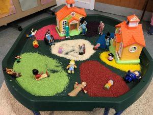 Small world- sensory tray